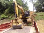 Excavator Mobilization with LCT
